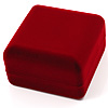 Burgundy Velour Flip Top Bracelet  Box