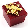 Glitter Burgundy Bow Ring Jewellery Box