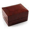 Luxury Wooden Dark Brown Mahogany Wedding Ring Box