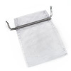 Organza Drawstring Pouch 15x20cm - Silver
