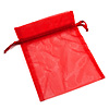 Organza Drawstring Pouch 15x20cm - Red