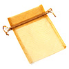 Organza Drawstring Pouch 15x20cm - Golden