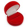Red Velour Round Ring Jewellery Box