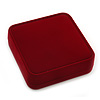 Large Luxury Square Burgundy Velour Brooch/ Pendant/ Earrings Jewellery Box