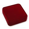 Large Luxury Square Burgundy Velour Brooch/ Pendant/ Earrings Jewellery Box