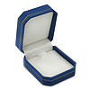 Blue Leatherette Brooch/ Pendant/ Earrings Octagonal Jewellery Box