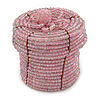 Ring/ Pendant/ Earrings Light Pink Glass Bead Handmade Box