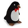 Black/ White Velour Penguin Jewellery Box For Small Ring/ Stud Earrings