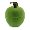 Lime Green Velour Apple Jewellery Box For Small Ring/ Stud Earrings