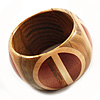 Boho Mod Wooden Bangle