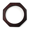 Thin Octagonal Wood Bangle (Dark Brown)