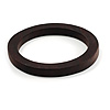 Tribal Round Wood Bangle (Dark Brown)