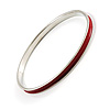 Red Thin Enamel Metal Bangle