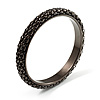 Stylish Metal Mesh Bangle Bracelet (Black Tone)