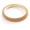 Stylish Metal Mesh Bangle Bracelet (Gold Tone)