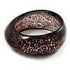 Animal Print Chunky Glittering Resin Bangle(LynxPrint)