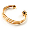 Gold Tone Crystal Cuff Bangle