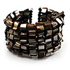Slate Black Shell Flex Cuff Bangle