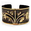 Stylish Black &#039;Crown&#039; Ethnic Cuff Bangle