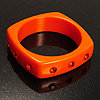 Square Crystal Resin Bangle (Orange)