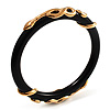 Gold Tone Snake Resin Bangle -18cm Length