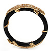 Thin Black Resin &#039;Lizard&#039; Bangle Bracelet