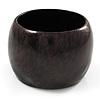 Oversized Chunky Wide Wood Bangle (Dark Brown & Black) - Medium Size