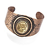 Vintage Bronze Cameo Cuff Bangle
