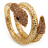 Dazzling Coil Flex Snake Bangle Bracelet (Gold Tone)