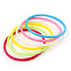 Set Of 6 Pcs Multicoloured Plastic Teens' Bangles up to 18cm wrist