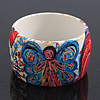 Wide Chunky Acrylic &#039;Fairy&#039; Bangle Bracelet - up to 20cm wrist