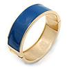 Navy Blue Enamel Magnetic Bangle Bracelet - 19cm L