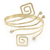 Greek Style Upper Arm, Armlet Bracelet In Gold Plating - 27cm L - Adjustable