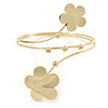 Gold Tone Double Flower Upper Arm, Armlet Bracelet - 27cm L