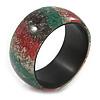Chunky Multicoloured Stripy Bangle Bracelet - Medium - 19cm L