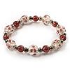 Elegant Lilac Glass Bead Flex Bracelet