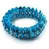 Sky Blue Shell Stretch Bracelet