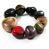 Multicoloured Chunky Resin Faceted Nugget Flex Bracelet - 17cm Length