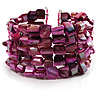 Magenta Shell Flex Cuff Bangle