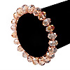 Pale Pink Glass Flex Bracelet - 18cm Length