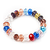 Multicoloued Glass Flex Bracelet - 18cm Length