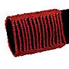 Wide Red Glass Bead Flex Bracelet - up to 19cm wrist