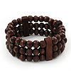 Fancy Multistrand Wood Bead Bracelet - up to 19cm wrist