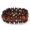 Fancy Wooden Bead Bracelet - up to 19cm wrist