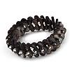 Grey Black Shell Stretch Bracelet - Up to 18cm Length