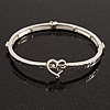 Burn Silver 'You Are Always In My Heart' Flex Bracelet - up to 20cm wrist