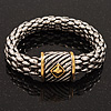 Stylish Two-Tone Mesh Magnetic Bracelet - 18cm Length