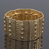 Vintage Hammered Bar Flex Bracelet In Gold Plating - 20cm Length