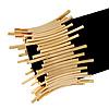 Gold Plated 'Crown' Flex Bracelet - 17cm Length