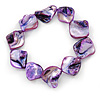 Purple Shell Nugget Flex Bracelet - 18cm L